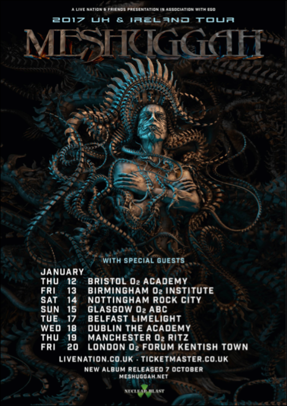 Meshuggah @ The Wiltern, Los Angeles, CA. 1/29/18